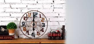 vintage retrofitted clock on wheel unique clocks decor