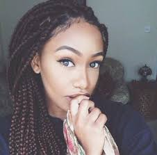 grey and purple combined together style box breads 65 box braids hairstyles for black women