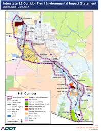 University Of Arizona Map by I 11 Impact Weighed As Environmental Studies Begin Azpm