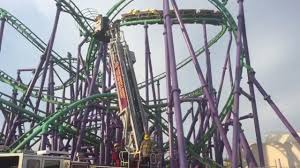 Six Flags Highest Ride Video Dozens Rescued After Being Stuck On Six Flags Roller