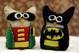 buy felt owl ornament batman and robin owl set try handmade