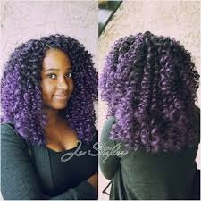 ombre crochet braids ombre purple crochet braids by je styles curly coiffure