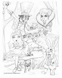 alice wonderland coloring sheets posted fun free