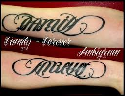awesome family forever ambigram photo 1