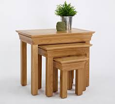 nest of coffee tables modern french modern oak nest of tables hampshire furniture