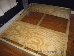 platform bed diy how to make inspirations also making a picture