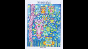 flipthrough of ornamental owls coloring book