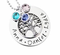 personalized family tree necklace family tree necklace up to 4 names
