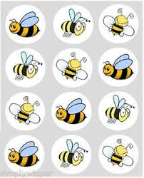 bumble bee cake toppers 12 bumble bee cupcake decoration edible rice paper cake toppers