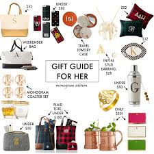 monogram gift ideas gift guide for a southern drawl