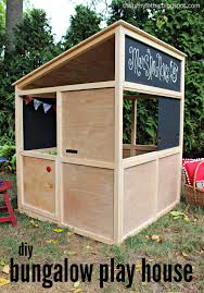 learn how to build a bungalow playhouse that can be used indoors
