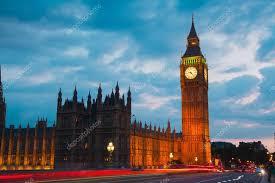 les chambres du soleil coucher du soleil de londres big ben et les chambres du parlement