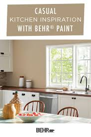 behr paint colors for kitchen with cabinets to create a casual style in your home start with behr