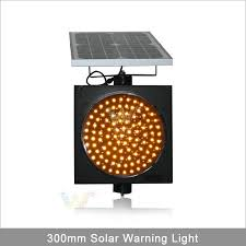 solar powered flashing yellow light factory direct sale traffic light 12 inch solar led amber flashing
