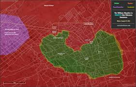 Damascus Syria Map by Map The Military Situation In Darayya City Western Damascus