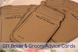 advice for the and groom cards diy template for jar and groom advice cards crafts
