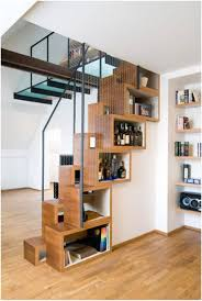 Shelves Built Into Wall Compact Bookshelves Built Into The Staircase Home Reviews
