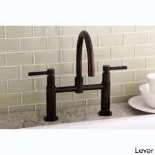 overstock kitchen faucet modern bridge rubbed bronze kitchen faucet free shipping