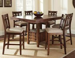 kitchen table wood dining table bar height dining table set pub