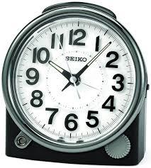 seiko clocks bedside alarm clock black qhe143jlh lsusa