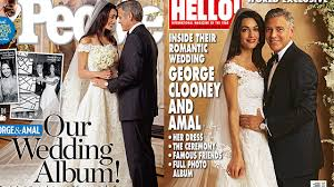 george clooney wedding george clooney spent millions on wedding but magazine photos