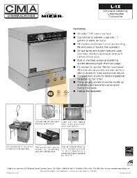 Cma 180 Dishwasher Manual Download Free Pdf For Cma Cma L 1x Dishwasher Manual