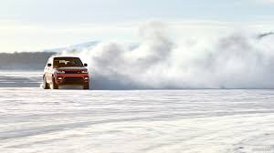 land rover snow 2014 range rover sport chile red in the snow front hd