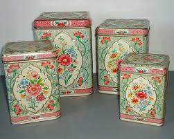 green kitchen canisters sets vintage kitchen canister sets set holland floral by