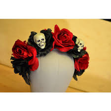 day of the dead headband skull and day of the dead crown skeleton dia