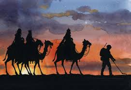 c4c three kings on camels christmas card pack of 5