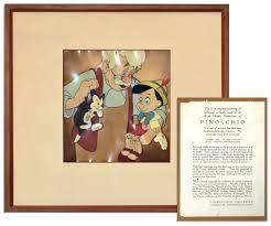 walt disney pinocchio cel art sells for 8 908 at natedsanders