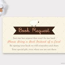 bring book instead of card to baby shower sheep baby shower book request from muse printable