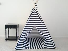 kids teepee with mat kids tent with mat black and white