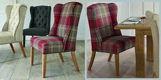 buy sherlock chair versatile check stirling red from the next uk