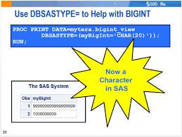 teradata column bigint is not showing in sas sas support communities