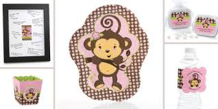 monkey decorations for baby shower monkey girl baby shower theme bigdotofhappiness
