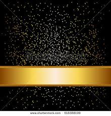 black and gold ribbon gold ribbon black background sparkles stock vector 618388199