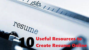 Create Resumes Online by Create Resume Online With Free Useful Templates