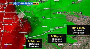 Radar Map Michigan by Storm Wrap Woodtv Com