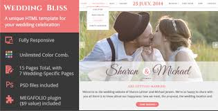 wedding site wedding bliss a unique wedding template by girlscancode