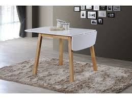 table de cuisine ensemble table 2 chaises lund oslo blanc naturel