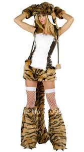 Womens Fox Halloween Costume Arrive Free Shipping Fur Tiger Cosplay Women Halloween