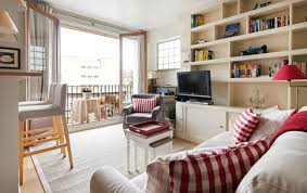 small space parisian style decorate a studio apartment
