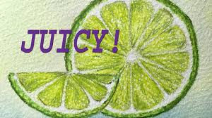 how to draw and color a juicy citrus lime youtube