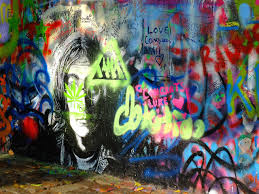 art students erase historic graffiti wall in prague the john lennon wall in october 2014 photo by steven feather flickr