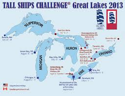 canadian map with great lakes ships challenge great lakes 2013