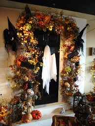 honey suckle and halloween decor used around your front door all
