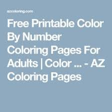 printable color number adults visualize numbers brain
