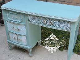 Contact Paper Desk Makeover How To Decoupage Drawer Fronts Vintage Charm Restored