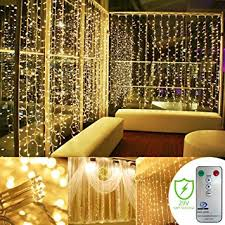 wedding backdrop fairy lights addlon remote curtain string led lights 9 8 9 8ft